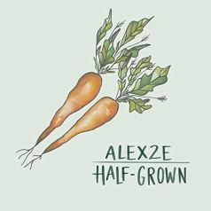 cover of Alex2E, Half-Grown, with two carrots forming a heart