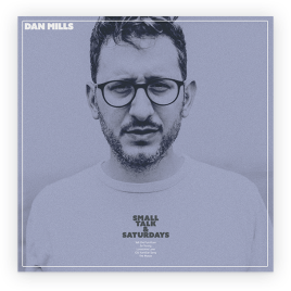 EP cover: Mills' face in silver-blue
