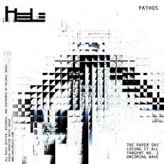 album cover for Heele EP, Pathos - black pixelation on white ground